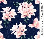 seamless pattern botanical pink ... | Shutterstock .eps vector #1457324327