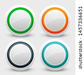 white user interface buttons set