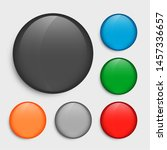 empty circle buttons set in... | Shutterstock .eps vector #1457336657