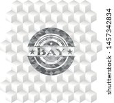 bay realistic grey emblem with... | Shutterstock .eps vector #1457342834