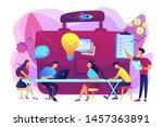 colleagues meeting. team... | Shutterstock .eps vector #1457363891