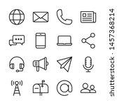 communication line icons set... | Shutterstock .eps vector #1457368214