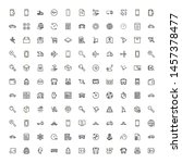 global delivery line icon set.... | Shutterstock .eps vector #1457378477