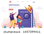 instructions manual concept.... | Shutterstock .eps vector #1457399411
