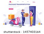 page  package  office postage... | Shutterstock .eps vector #1457403164