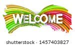 welcome text banner with... | Shutterstock .eps vector #1457403827