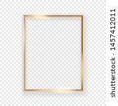 realistic shining golden...   Shutterstock .eps vector #1457412011
