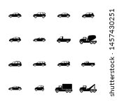 types of cars glyph icons set... | Shutterstock .eps vector #1457430251