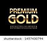 vector premium gold alphabet... | Shutterstock .eps vector #1457430794