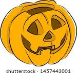 halloween pumpkin  illustration ... | Shutterstock .eps vector #1457443001