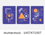 posters set with bright bold... | Shutterstock .eps vector #1457471507