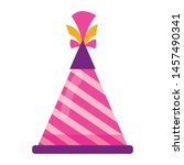 party birthday hat celebration... | Shutterstock .eps vector #1457490341