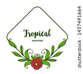 greeting card tropical ... | Shutterstock .eps vector #1457491664