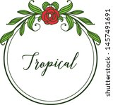 decor of card tropical with... | Shutterstock .eps vector #1457491691
