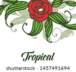 decor of card tropical with... | Shutterstock .eps vector #1457491694