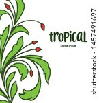 decor of card tropical with... | Shutterstock .eps vector #1457491697
