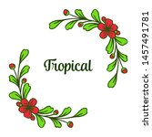 poster tropical with abstract... | Shutterstock .eps vector #1457491781