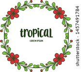 poster tropical with abstract... | Shutterstock .eps vector #1457491784