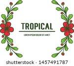 template summer tropical  shape ... | Shutterstock .eps vector #1457491787