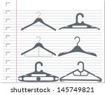 hangers with on paper | Shutterstock .eps vector #145749821