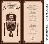 restaurant menu template.... | Shutterstock .eps vector #1457500151
