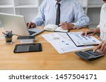 two business team manager... | Shutterstock . vector #1457504171
