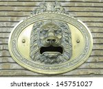 Mailbox With Brass Plated Lion...