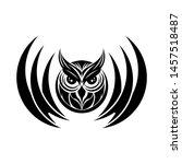 happy halloween owl vector image | Shutterstock .eps vector #1457518487