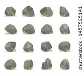 coal black mineral rocks or... | Shutterstock .eps vector #1457525141