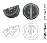 vector design of vegetable and... | Shutterstock .eps vector #1457525444