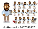 big set with african american...   Shutterstock .eps vector #1457539337