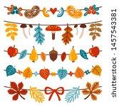 vector autumn collection of 5...   Shutterstock .eps vector #1457543381