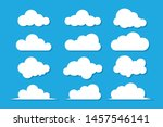 clouds icon   vector... | Shutterstock .eps vector #1457546141