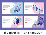 bank service isometric...   Shutterstock .eps vector #1457551037