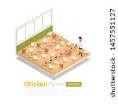 modern chicken poultry farm...   Shutterstock .eps vector #1457551127