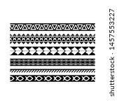 maori black and white texture... | Shutterstock .eps vector #1457553227