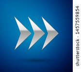 silver arrow icon isolated on... | Shutterstock .eps vector #1457559854