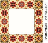 tile frame vector. vintage... | Shutterstock .eps vector #1457560514
