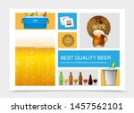 realistic brewing composition... | Shutterstock .eps vector #1457562101