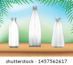 bottle water stand up with cap... | Shutterstock .eps vector #1457562617