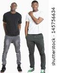 portrait of two young men in...   Shutterstock . vector #145756634