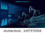 oil pipeline low poly business...   Shutterstock .eps vector #1457570504
