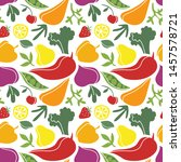 seamless pattern with... | Shutterstock .eps vector #1457578721