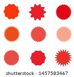 set of starburst  sunburst...   Shutterstock .eps vector #1457583467