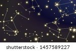 constellation map. dark blue... | Shutterstock .eps vector #1457589227