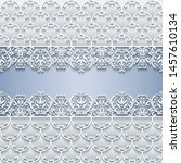 abstract vector ornamental... | Shutterstock .eps vector #1457610134