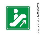 escalator icon in trendy flat...