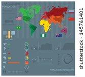 population infocharts | Shutterstock .eps vector #145761401