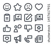 feedback bold line icon set.... | Shutterstock .eps vector #1457617931
