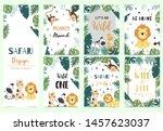 green collection of safari... | Shutterstock .eps vector #1457623037